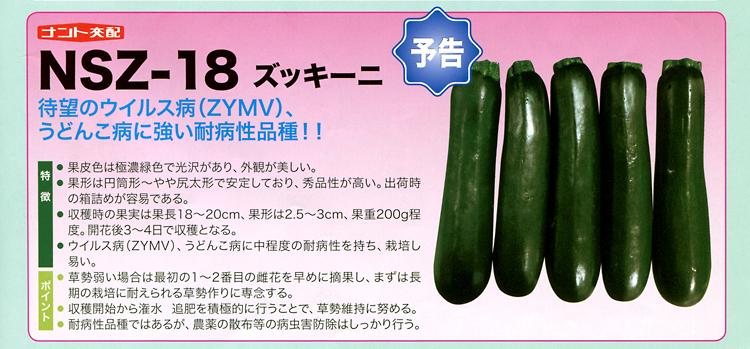 ナント種苗株式会社 / ズッキーニ / ナント交配 / NSZ-18